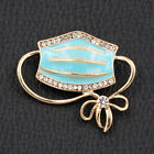 Betsey Johnson Jewelry Enamel Crystal Mouth Mask Shape Bowknot Charm Brooch Pin image