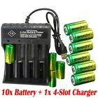 Lot 16340 CR123A Battery 3.7V Rechargeable Lithium Batteries + Charger USA Stock