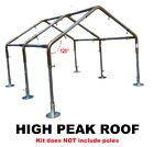 """RV & Boat Carport Kit *FITTINGS ONLY 1-1/2"""" High or Low Peak Roof"""