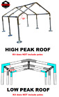 "RV & Boat Carport Kit FITTINGS ONLY 1-1/2"" High or Low Peak Roof ≤20'x20/30/40+"