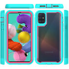 For Samsung Galaxy A51 A71 4G Heavy Duty Clear Back Case Cover Belt Clip Holster