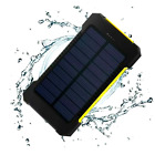 Solar 20000mah Dual USB Power Bank Portable Charger Waterproof LED Flashlight