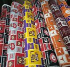 Kyпить NCAA College Cotton Fabric by the 1/4 Yard -PICK TEAM- 9