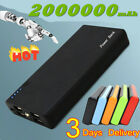 2000000mAh Power Bank High Capacity Backup 4USB Ports Fast Charger Fr Cell Phone