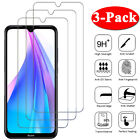 For Xiaomi Redmi Note 9S 9 8 8T 7 6 5 Pro 3Pcs Tempered Glass Screen Protector