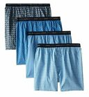 Hanes Men's 4-Pack Big & Tall ComfortSoft Printed Woven Boxers 2XL