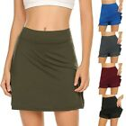 Внешний вид - Women's Anti-Chafing Skort With Hidden Pocket Workout Pleated Sports Skorts US
