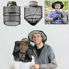 Outdoor Insect Mosquito Hat Bug Mesh Net Cap Protector Face Head Camping Fishing