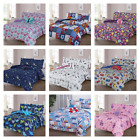 NEW BED IN A BAG COMPLETE KIDS BED COMFORTER TOP PRINTED TWIN 6PC  FULL 8PC GG