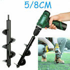 Black Earth Auger Drill Bit Fence Borer Home Garden Post Hole Digger Accessories