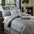 7 Piece Luxury Quilted Embroidered Comforter Set Bed In A Bag image