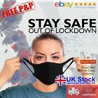 Face Mask Washable UK Reusable Breathable High Quality Masks Shield Cover Lot <br/> ✅UK Stock✅Quick FREE Delivery✅TRUSTED✅Vacuum Sealed