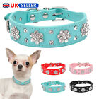 Dog Cat Collar Necklace Accessories Puppy Collar Leather Diamante Pet Products