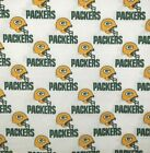 """NFL GREEN BAY PACKERS Cotton Fabric by the 1/4, 1/2, Yard, 58""""W for Face Mask $7.99 USD on eBay"""