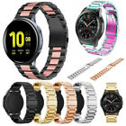 For Samsung Galaxy Watch Active 2 40 44mm Watch Band Stainless Steel Metal Strap image