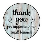 30 1.5' THANK YOU HEARTS WOOD SHIPPING LABELS ENVELOPE SEALS ROUND STICKERS***