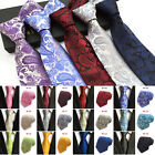 "3.14"" Mens Jacquard Paisley Woven Silk Necktie Office Party Wedding Formal Ties $10.29 CAD on eBay"