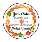 """30 1.5"""" FALL LEAVES WREATH THANK YOU ORDER ENVELOPE SEALS LABELS STICKERS"""