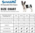 ScratchMe Disposable Male Dog Diaper Super Absorbent and Leak-Proof Fit