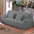 Solid Color Sofa Cover Stretch Seat Couch Covers Love Seat Funiture Slipcovers