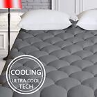 Cooling Mattress Pad Cover Pillow Top Breathable Quality Bedding Queen King Size