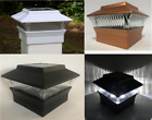 "2/4/6/8/12-Pc Square Solar Post Cap Lights Fence Mount Only for 4""x4"" Posts"
