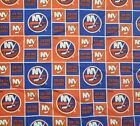 """NHL New York Islanders Cotton Fabric by the 1/4,1/2,Yard, 44""""W for Face Mask $9.79 USD on eBay"""