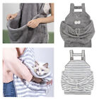 Soft Plush Pet Cat Front Carrier Bag Hands Free Adjustable Sling Apron Hold Bag