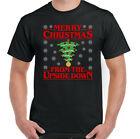 STRANGER THINGS CHRISTMAS T-Shirt Mens Funny Xmas Upside Down Unisex Tee Top