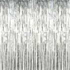 2M 2.5M & 3M Foil Fringe Tinsel Shimmer Curtain. Shiny Backdrop Party Decoration
