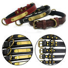 Leather Pet Collar The Leather+cloth Dog Collar Pet Supplies XS /S/M/ L/XL Uk