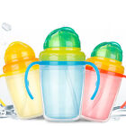 1Pc Baby Trainer Straw Cup with Double Handles for Children Feeding Drinking SH