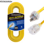10ft/25ft/50ft/100ft Extension Cord 16/3,14/3 SJTW Outdoor Heavy Duty Power Cord