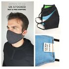 Face virus Mask Denim Washable Cover Shield Breathable Reusable Made in EU
