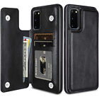 For Galaxy S20 Ultra Note 20 Note 10 Plus 8 9 Leather Card Slot Case Stand Cover
