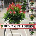 Realistic Artificial Potted Flowers Plants In Pot Outdoor Home Garden Decor Jd