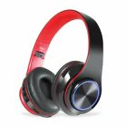 Wireless Gaming Headset LED Headphones Stereo Bass Foldable For PC PS4 Xbox ONE