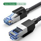 Ugreen Cat 8 Ethernet Cable 40Gbps RJ45 Network LAN Patch Cord Fr PS4,PS3,Modem