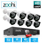 1080P 8CH CCTV DVR 2MP Outdoor Wired Security Camera System With 1TB AHD HDMI