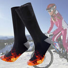 With Remote Control Winter Skiing Heated Socks Electric Rechargeable Double Side