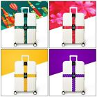 Adjustable Luggage Straps Buckle Cross Suitcase Baggage Travel With Belt
