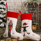 Linen Soldier King Christmas Stocking Socks Xmas Gift Candy Bag Party Supplies E