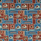 """NHL Colorado Avalanche Cotton Fabric by the 1/4,1/2,Yard, 44""""W for Face Mask"""