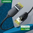 UGREEN Ethernet Cable CAT7 Network Lan Patch Cord 10Gbps Slim 0.38mm RJ45 Fr PS4