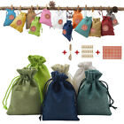 24 Colors Christmas Calendar Candy Storage Bag Drawstring Pouch Rope Clip Eager