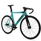 Throne TRKLRD Track Lord Fixed Gear Single Bicycle Teal Celestial 49 52 55 58CM