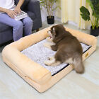 Orthopedic High Density Foam Dog Bed Lounge Sofa Pet Basket with Non-Slip Base