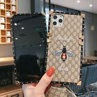 Luxury Embroidered Bee Square Trunk Case for iPhone 11 Pro Xs Max 7 8 Plus XR