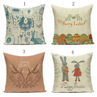 Festive Features Pattern Linen Cushion Cover Throw Pillow Cover Sofa Home Decor