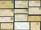 CANADA 1880-1897 PRINTED COMMERCIAL ENVELOPES Q.VICTORIA FRANKINGS ..EACH PRICED